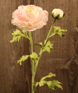 FL10806LTPK Ranunculus Spray 1 Flower 1 Bud Light Pink 20""
