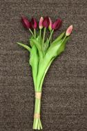PA10161PU Tulip Bud Bundle x 7 Purple 17""