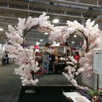 TR10381LP Cherry Blossom Heart Shaped Tree x 27 Light Pink 8'