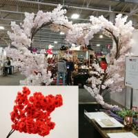 TR10381RD Cherry Blossom Heart Shaped Tree x 27 Red 8'