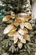 XM12196GO Metallic Magnolia Leaves Spray Gold 32""