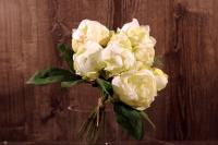 FL11092CR Peony Bundle Cream 9 Flowers 18""