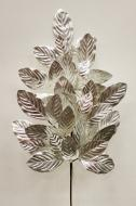 XM12196SI Metallic Magnolia Leaves Spray Silver 32""