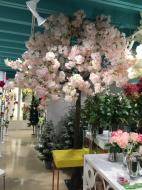 TR10303LP Cherry Blossom Tree x 36 Branches Light Pink 12'