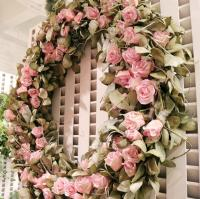 PMX1004LV Mixed Rose Laurel Wreath 48""