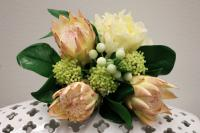 PA10085LPCR Mixed Protea / Peony Bqt Light Pink Cream 14""