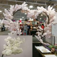 TR10381WH Cherry Blossom Heart Shaped Tree x 27 White 8'