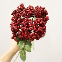 """BE10033RD Berry With Leaves Spray Red 25.5"""""""