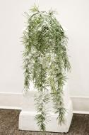 XM11997GRSN Long Pine Weeping Spray With Snow Green 44""
